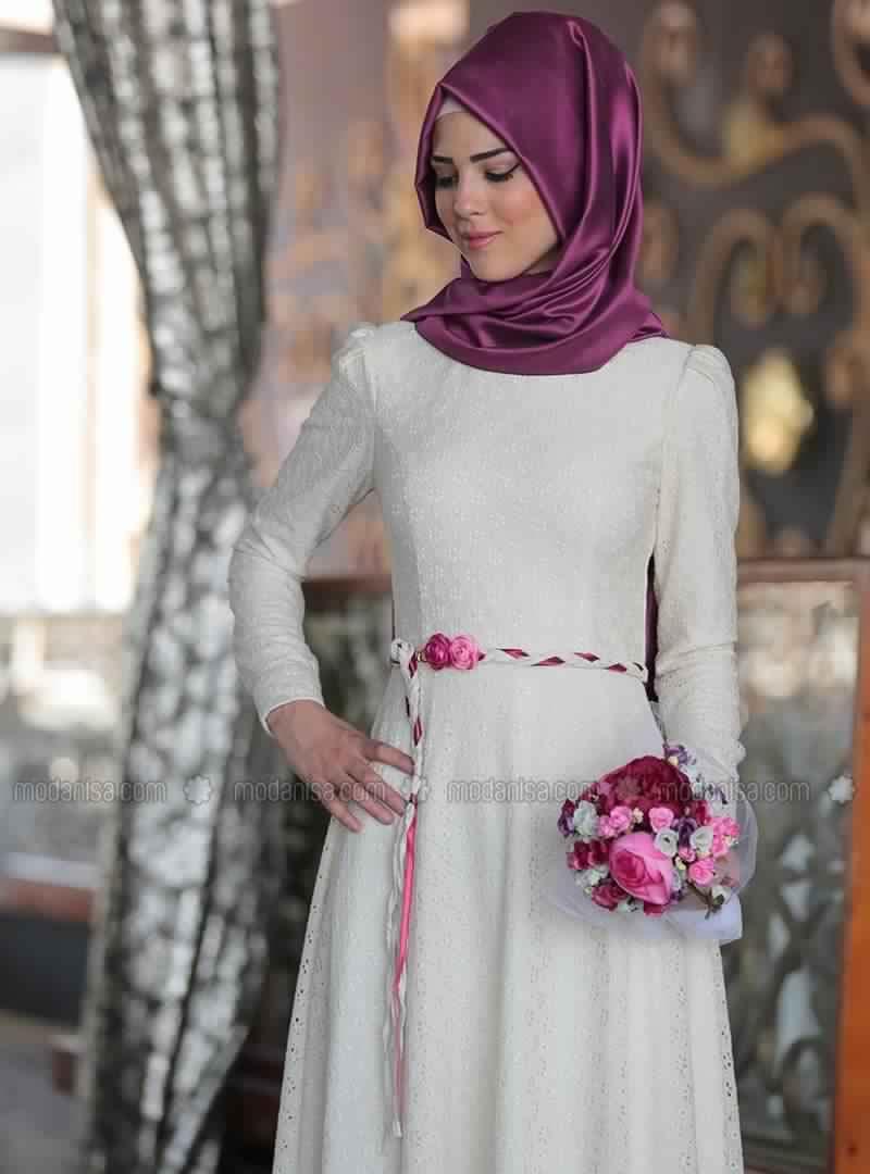 Hijab mode id es de tenue base de robe de soir e femme voil e pour f te de mariage hijab - Tenue originale femme ...