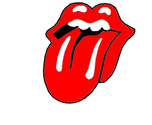 Adesivo Boca Rolling Stones ~ Loucuras Criativas DIY Pingente de plástico