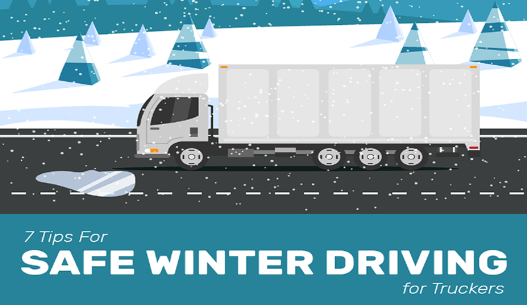 7 Tips for Safe Winter Driving #infographic