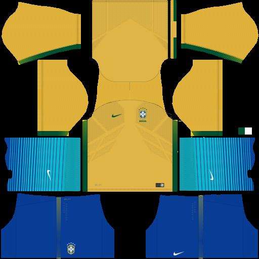 Brazil Home Kit Dream League Soccer