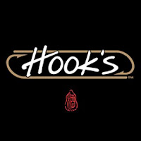 The logo to Hooks Sushi Bar in St Petersburg, Florida