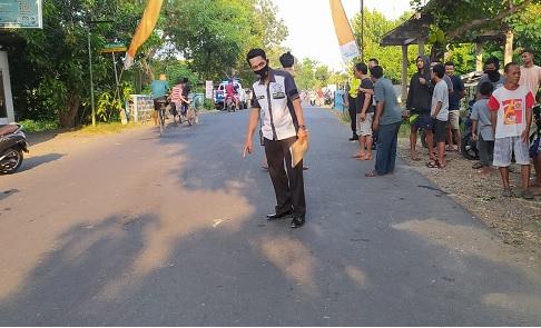 lokasi laka maut yang menewaskan dua pelajar di Desa Banaran, Kecamatan Kertosono