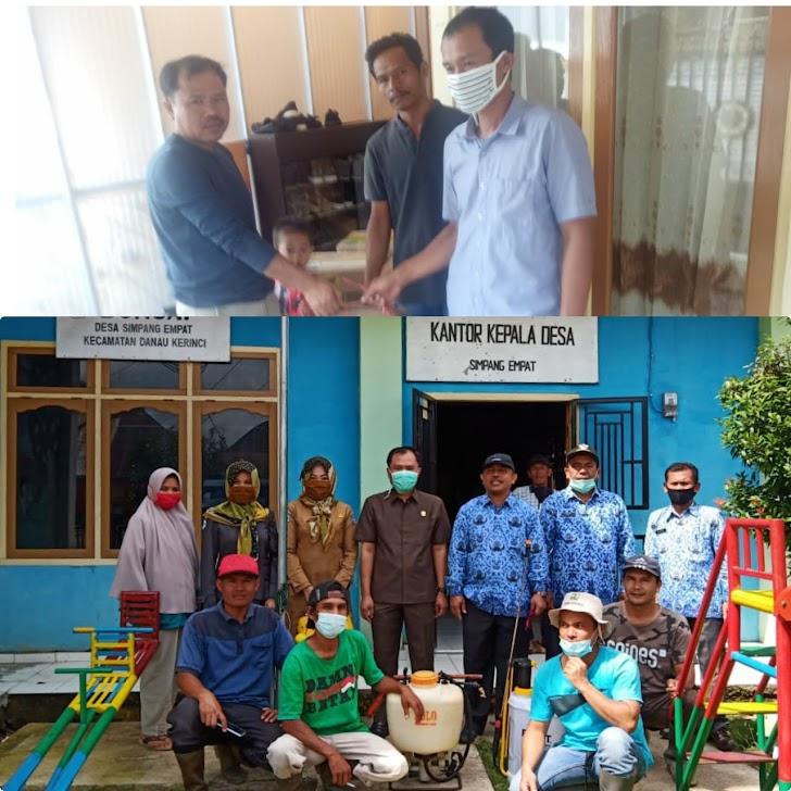 Terus Berbuat Untuk Masyarakat,  Anggota DPRD Kerinci M Yunus Kembali Beri Bantuan Disenfektan