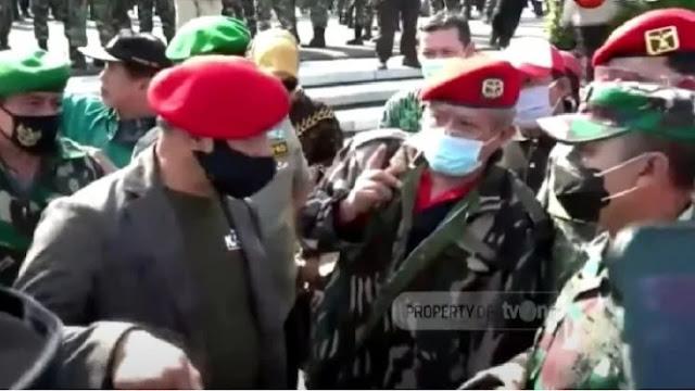 Video Detik-detik Jenderal Gatot dan Purnawirawan TNI Dihadang Dandim di TMP Kalibata