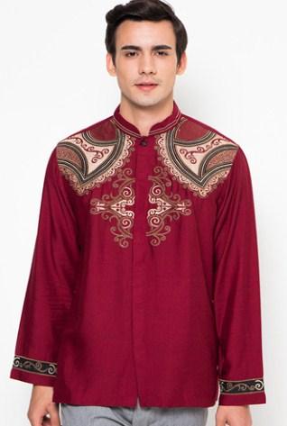 Gudang Fashion   Kemeja Muslimin Pria Baju Koko Lengan