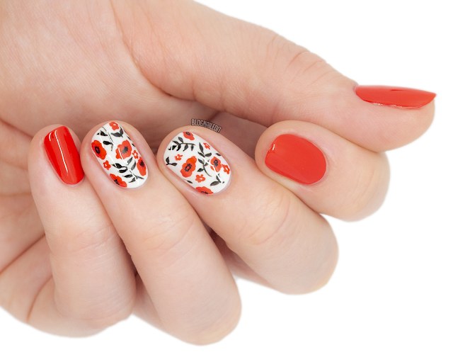 nail art julia dreams floral poppy