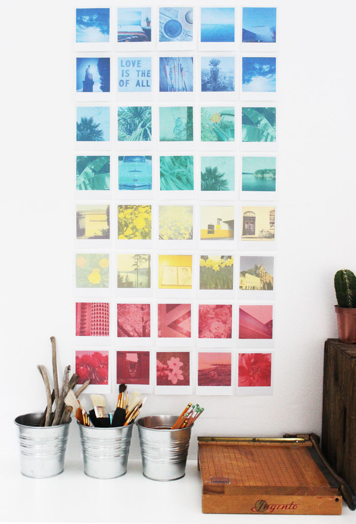 Diy instagram polaroid wall art free printable poppytalk for Art e decoration