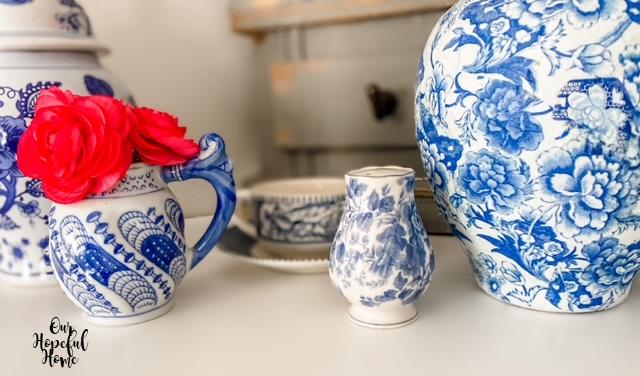 pink ranunculus blooms chinoiserie creamer vase shaker