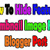 How To Hide Featured Thumbnail Image In Blogger Post – Blogging Tips 2019