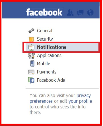 how to turn off facebook email notifications on android