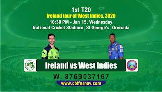 WI vs IRE T20 1st T20
