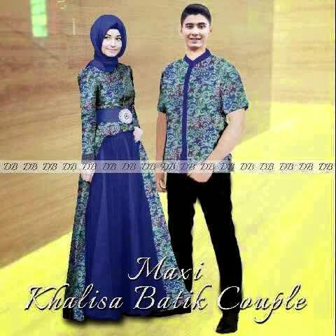 Busana Batik Sarimbit Couple Setelan Gamis Baju Batik Modern Dan