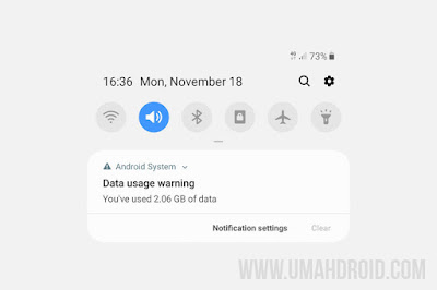 Menghilangkan Data Usage Warning di HP Samsung
