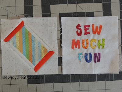 Sew Much Fun Tour sewing theme quilt blocks 6 inch blocks