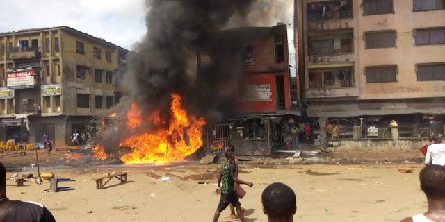 UPDATED: Woman, baby die, building razed in Onitsha tanker explosion