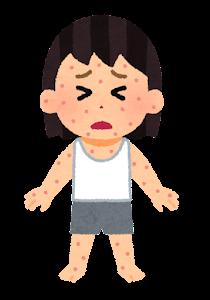 湿疹のイラスト(女の子)