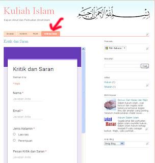 Cara membuat formulir dalam blog