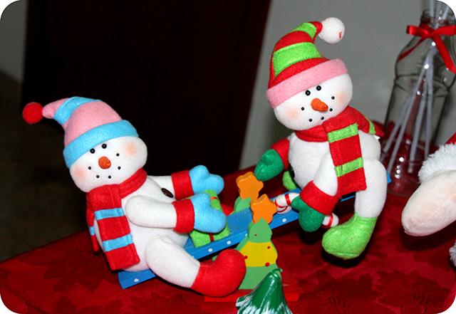 Decoração da Mesa : Festa de Natal : Bonecos de Neve