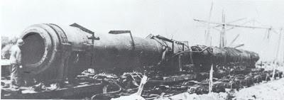 Cañón ferroviario Dora Schwerer Gustav railway gun Auerbach
