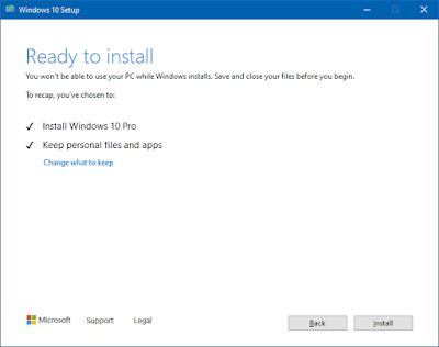 windows 10 upgrade dialog