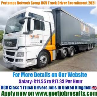 Pertemps Network Group HGV Class 1 Truck Driver Recruitment 2021-22