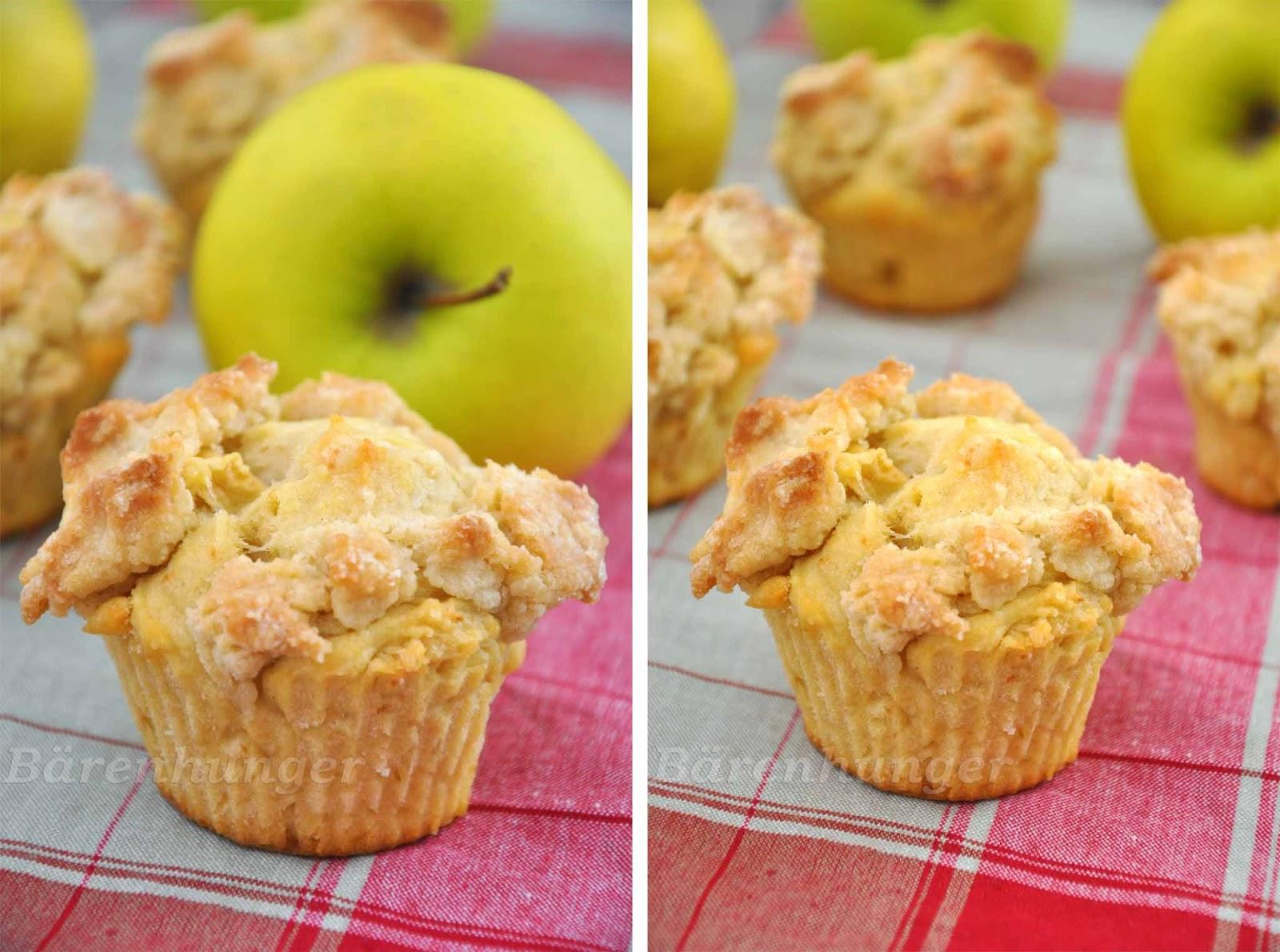 Apfel Streusel Muffins Barenhunger