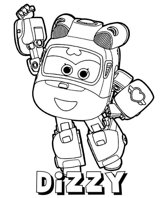 Super wings smart coloring pages 8
