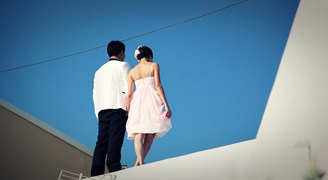 Santorini wedding couples