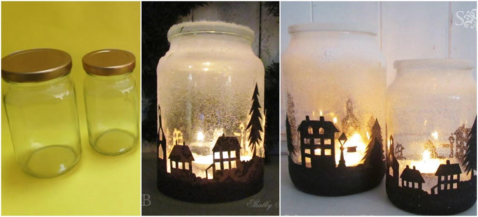 Espectaculares adornos navide os reciclando frascos de for Manualidades con botellas de vidrio