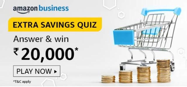 Amazon Business Extra Saving Quiz Answers