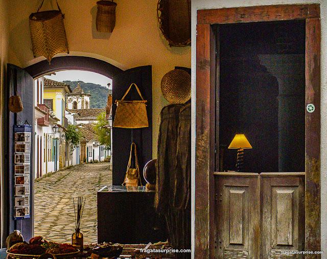 Loja de artesanato em Paraty