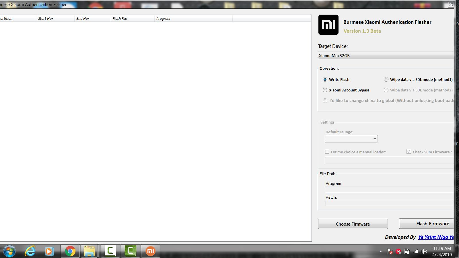 gsmmobiledp  xiaomi authentication flasher tool v1 3