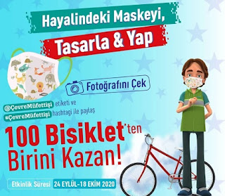 Maske Tasarla Bisiklet Kazan