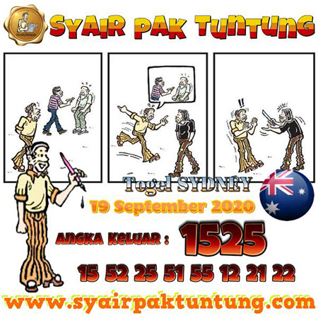 Syair Pak Tuntung Sydney Minggu 20 September 2020