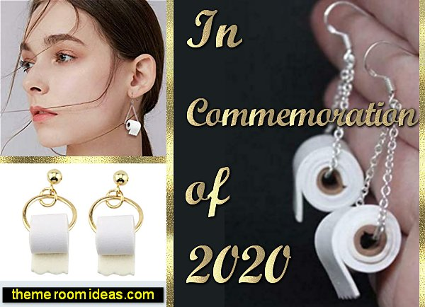 toilet paper earrings covid toilet paper jewelry covid19 2020