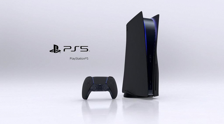 PlayStation 5 in black and a comparison of all generations of PlayStation