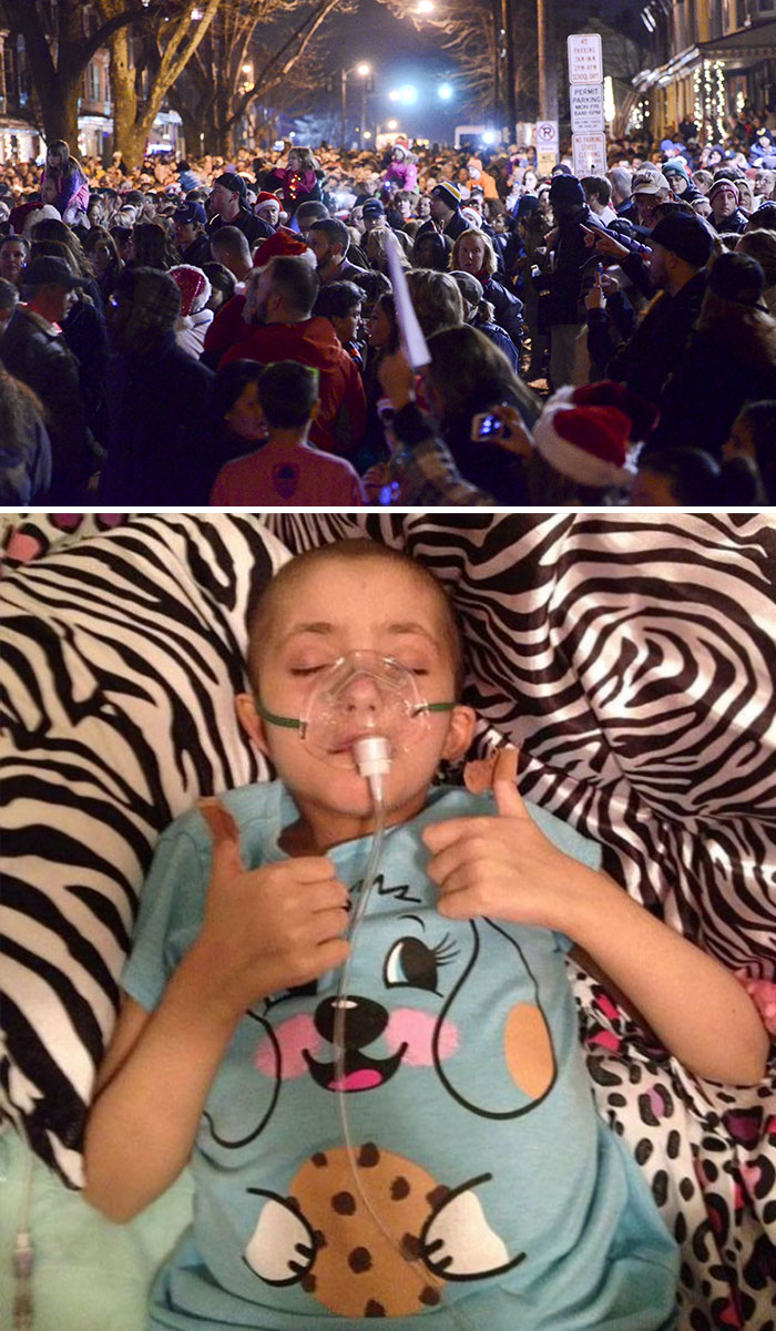 36 People's Heart-Breaking Last Wishes - Thousands Of Carolers Surround Home Of Dying Girl, 8, To Fulfill Her Wish For A Massive Christmas Sing-Along