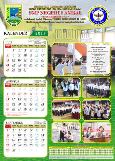 Desain Kalender untuk Sekolahan - Gubug Gallery