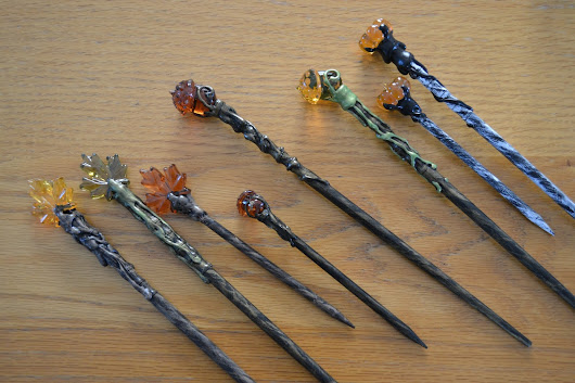 Fall Magic Wands - Pumpkins, Leaves and Acorns, oh my!