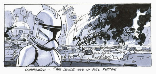 clone trooper story board star wars