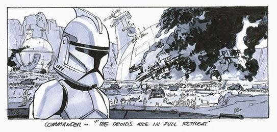 clone trooper story board star wars