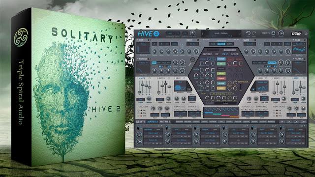 SOLITARY u-he HIVE 2 TRIPLE SPIRAL AUDIO