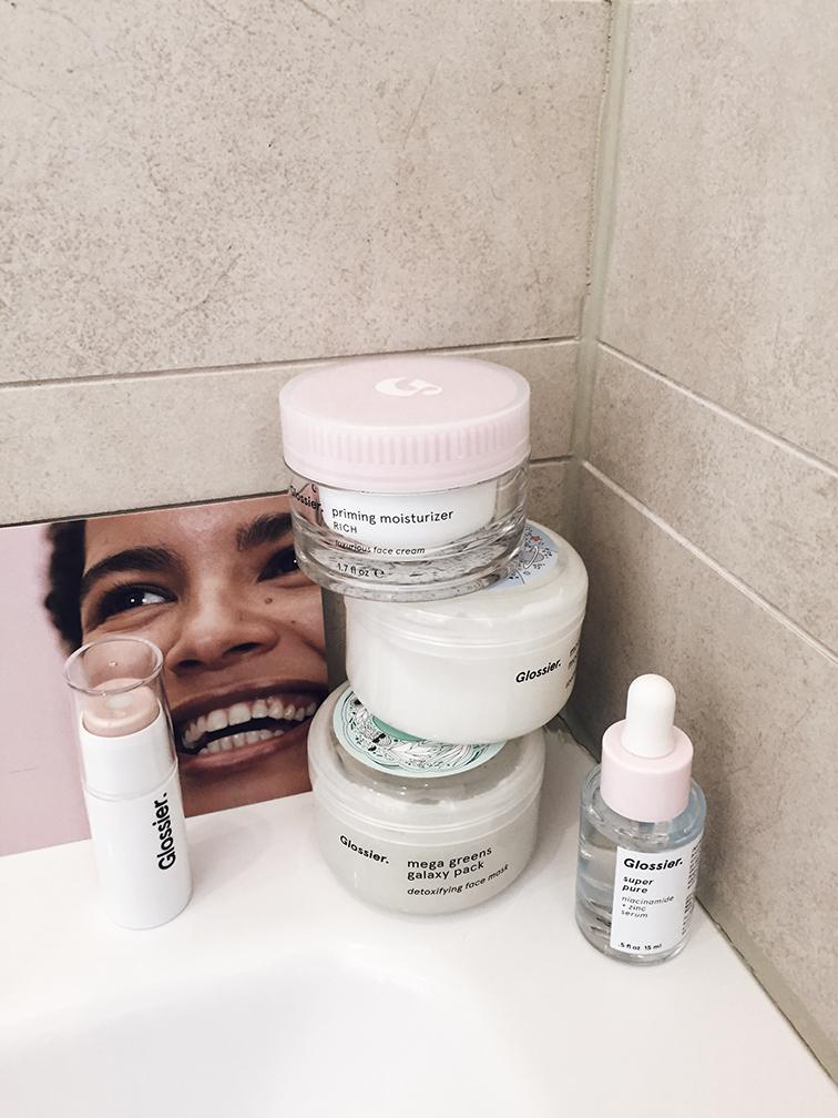 heleneisfor glossier priming moisturizer rich super pure serum haloscope helene skincare