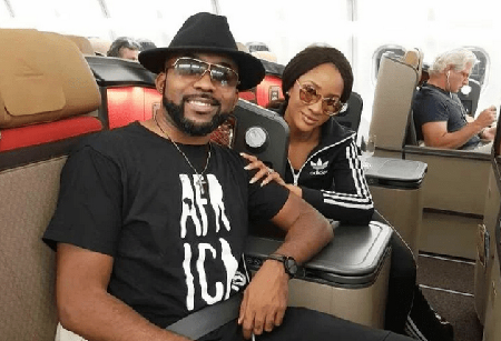 Banky-W-And-Adesua-fly-to-South-Africa