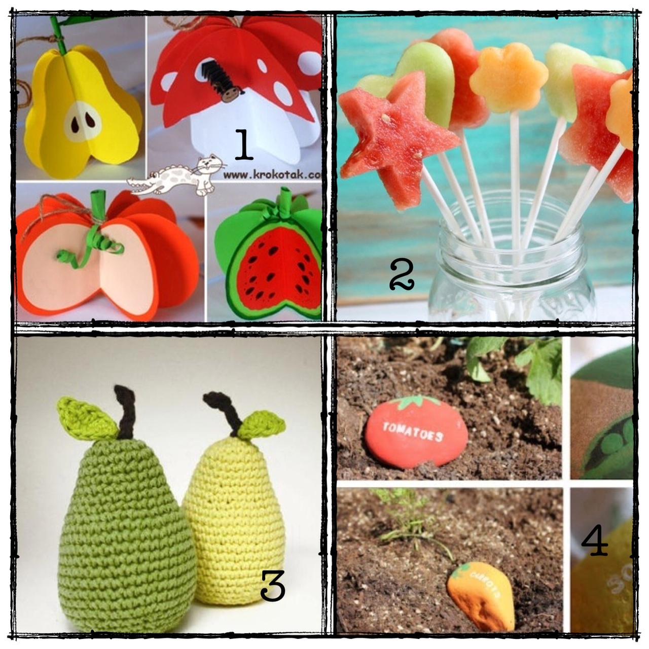 abbastanza Paroledilatte: Tutti pazzi per la Frutta! Lavoretti creativi con  OE86