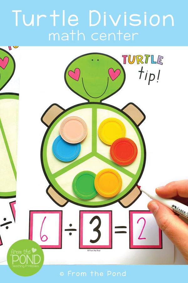 Turtle Math : turtle, Pond:, Division, Center, Turtle