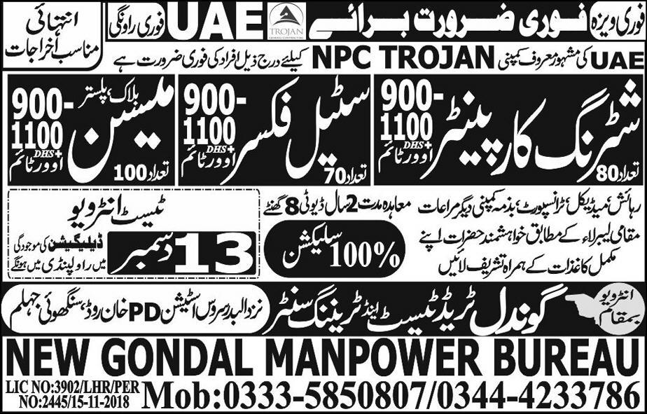 Shuttering Carpenter jobs in New Gondal Manpower Bureau in