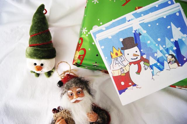 cartão de natal rei gelado hora de aventura download - leite com biscoitos blog