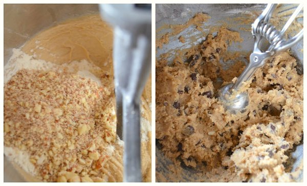 Perfect Chocolate Chip Cookie Dough in mixing bowl.
