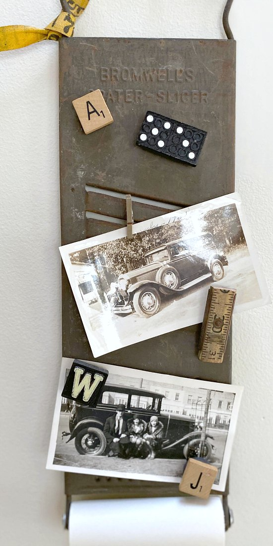 DIY Vintage Cheese Grater Memo Board with magnets